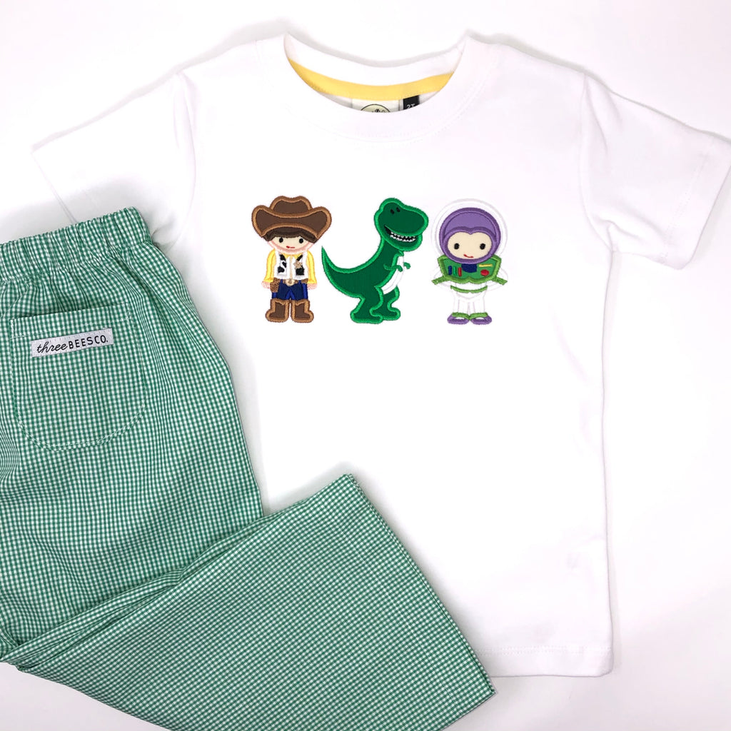Toy Friends Trio Applique Boys T-Shirt