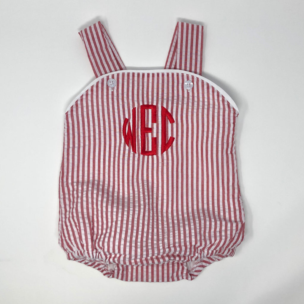 Seersucker Stripe Sunsuit (Unisex)