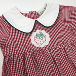 Red Gingham Girls Bubble