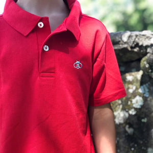 Pima Cotton Bellwether Polo with Bee