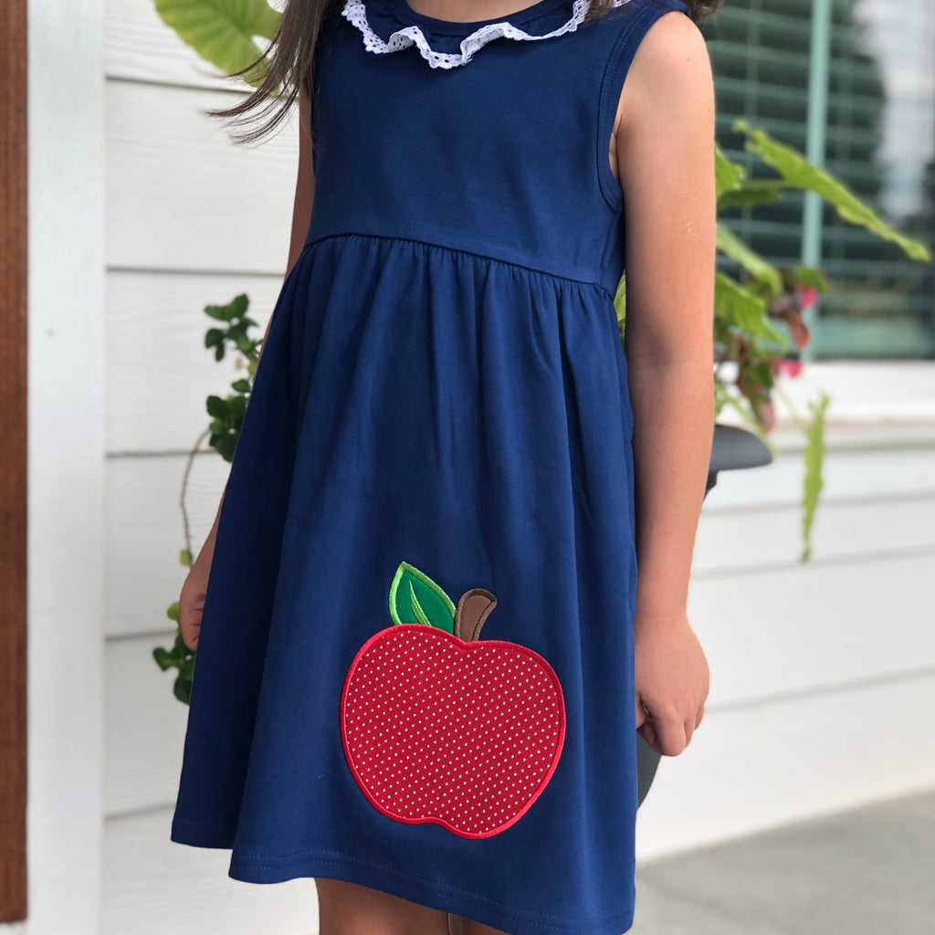 Back to School Sleeveless Lace Ruffle Summer Dress