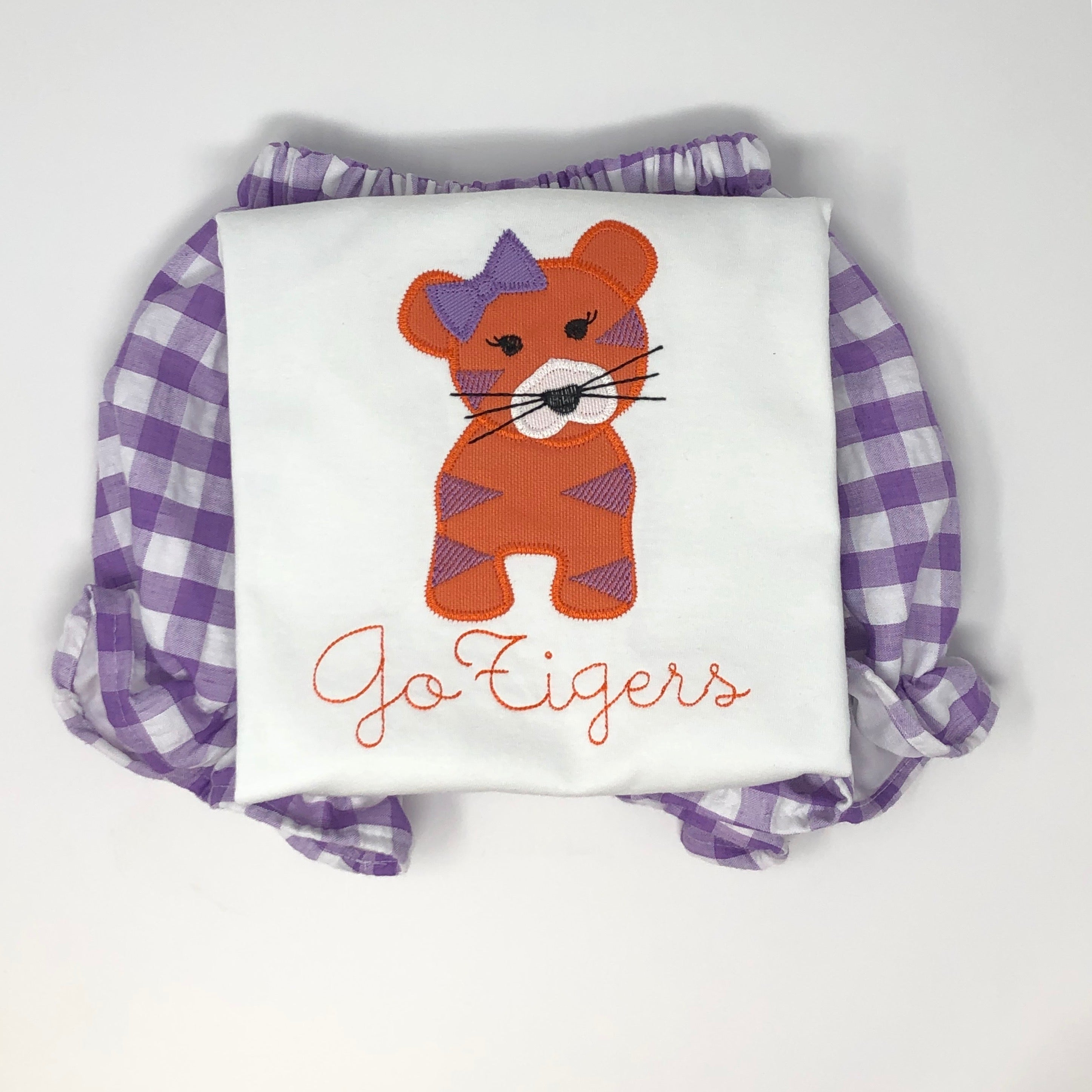 Tiger with Bow Girls Top