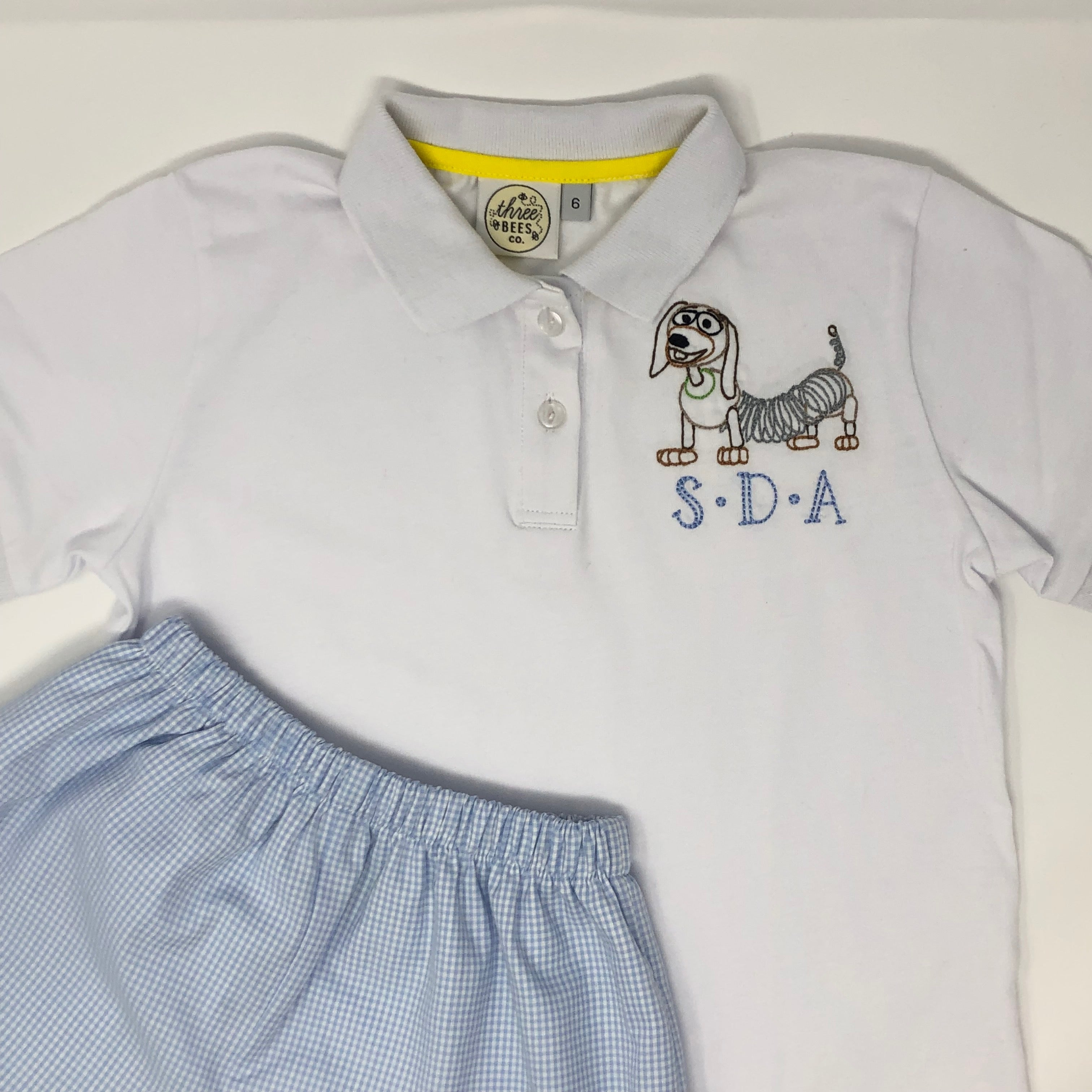 Toy Land Slinky Dog Collared Shirt