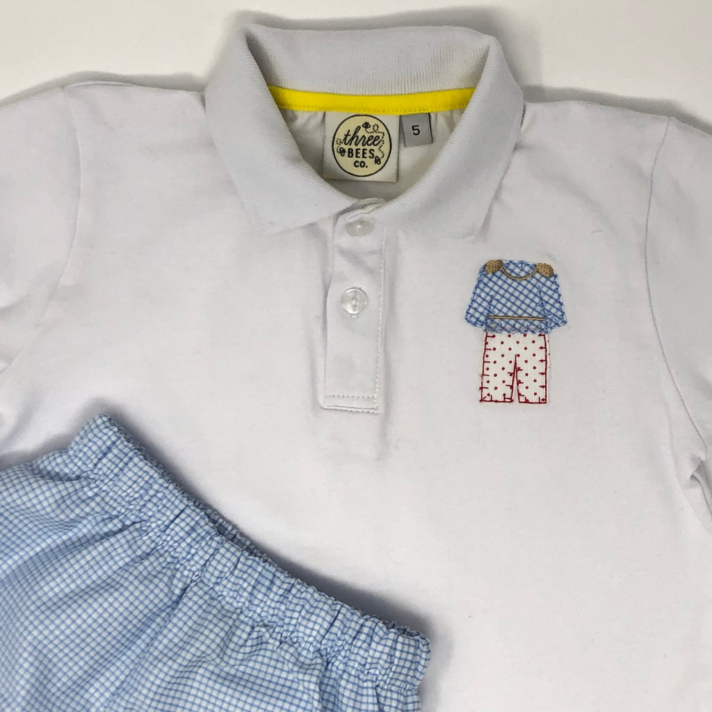 Prince Charming Applique Collared Shirt