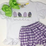 Girls Egg Applique Top