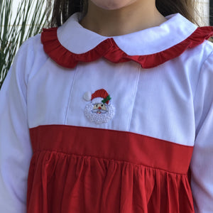 Hand Embroidered Santa Claus Dress