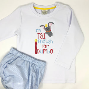 I'm Tall Enough Boys Embroidered T-Shirt