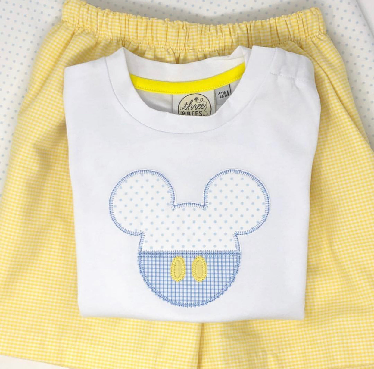 Classic Mouse Polka Dot Applique T-Shirt