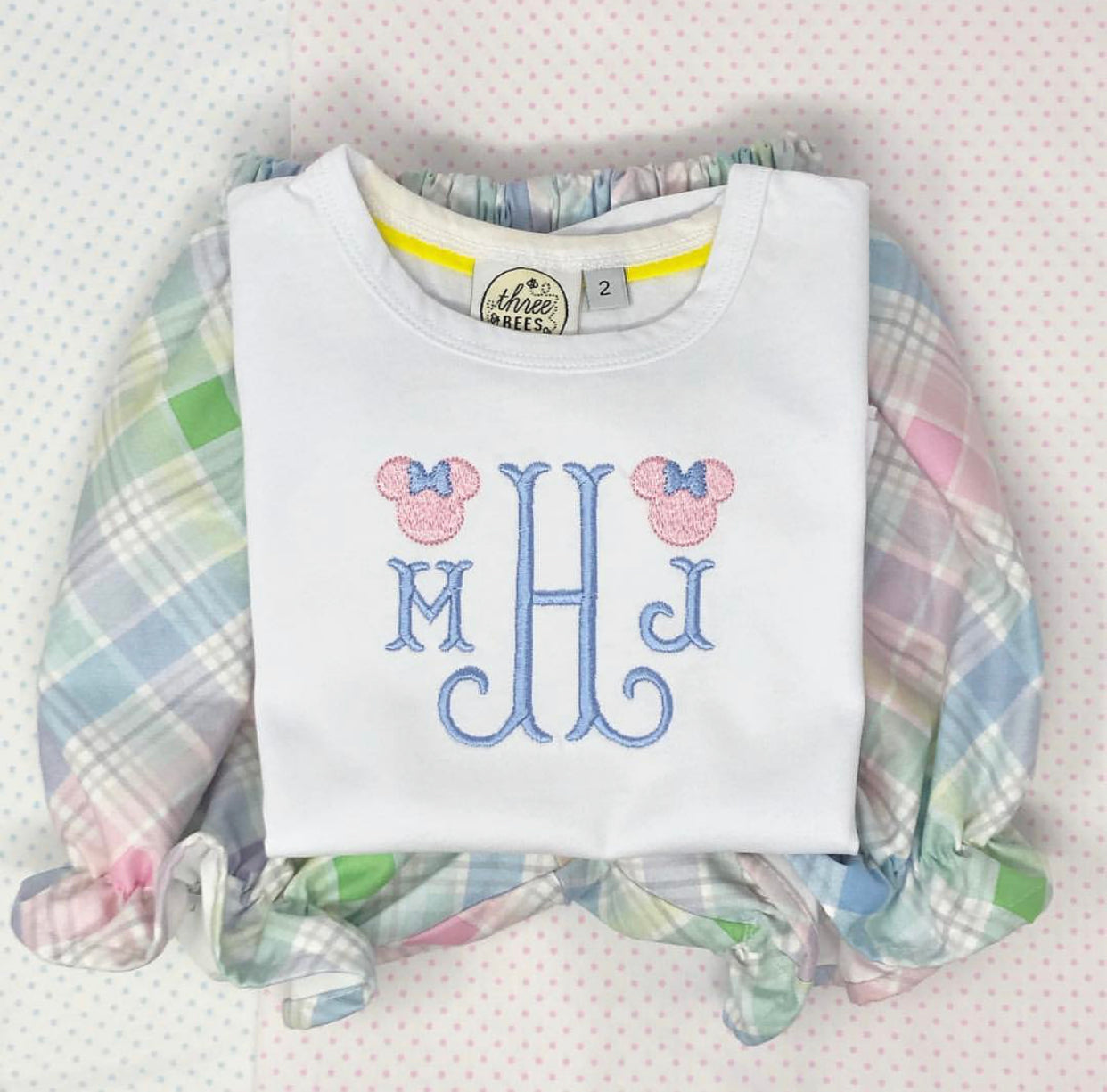 Classic Mouse Fishtail Monogram Top