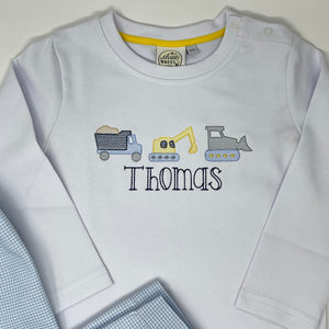 Construction Crew Embroidery Boys T-shirt