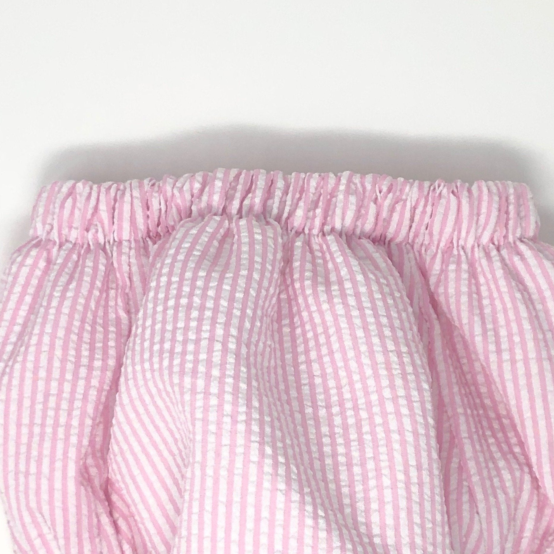 Seersucker Stripe Ruffle Bloomer