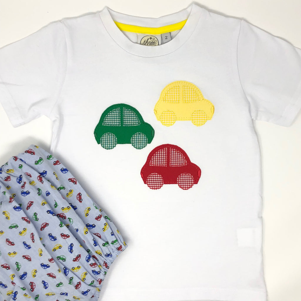 Cars Applique Boys T-Shirt