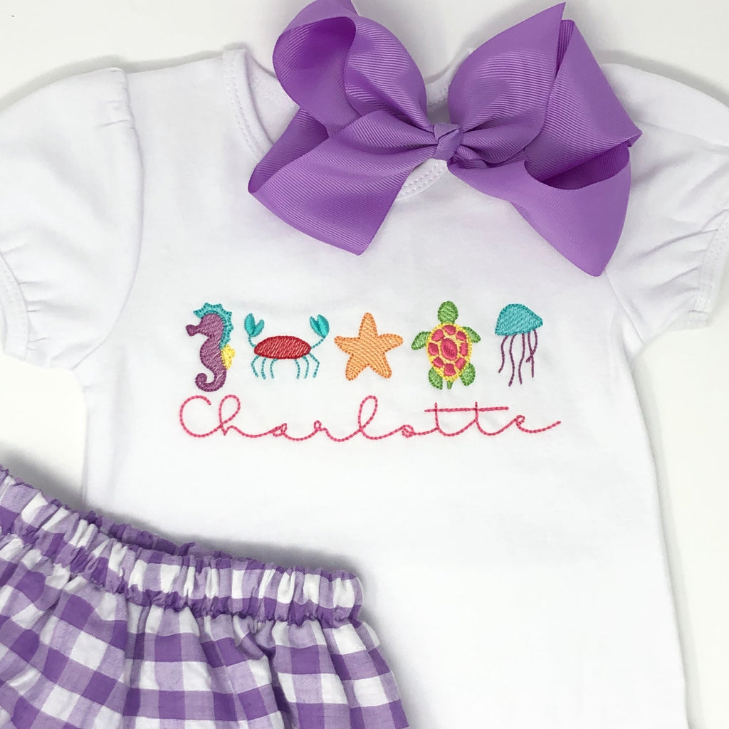 Sea Friends Girls Top