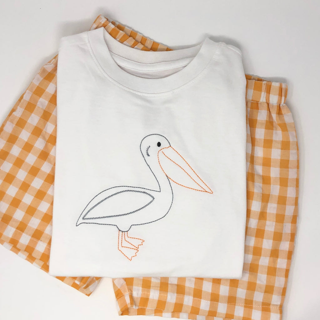 Embroidered Pelican Boys T-Shirt