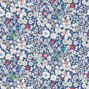 Liberty of London Fabrics Tana Lawn June's Meadow Blue