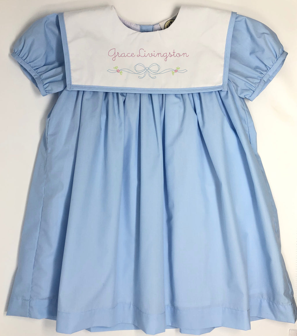 Embroidery Bow Nora Dress