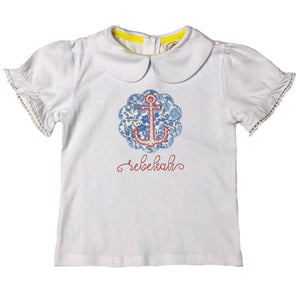 Scallop Anchor Applique Top