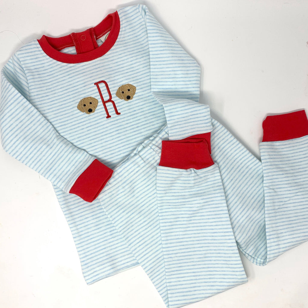 Sleepy Bees Blue Stripe Pajamas