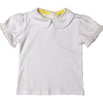 White Peter Pan Collared Top