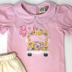 B is for Bus Girls Applique Top