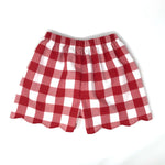 Buffalo Plaid Emilia Scallop Short
