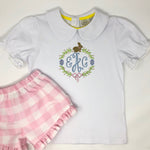 Easter Embroidery Frame Girls Top