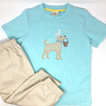 Bunny Pup Applique Boys T-Shirt