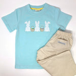 Bunny Trio Applique Boys T-Shirt