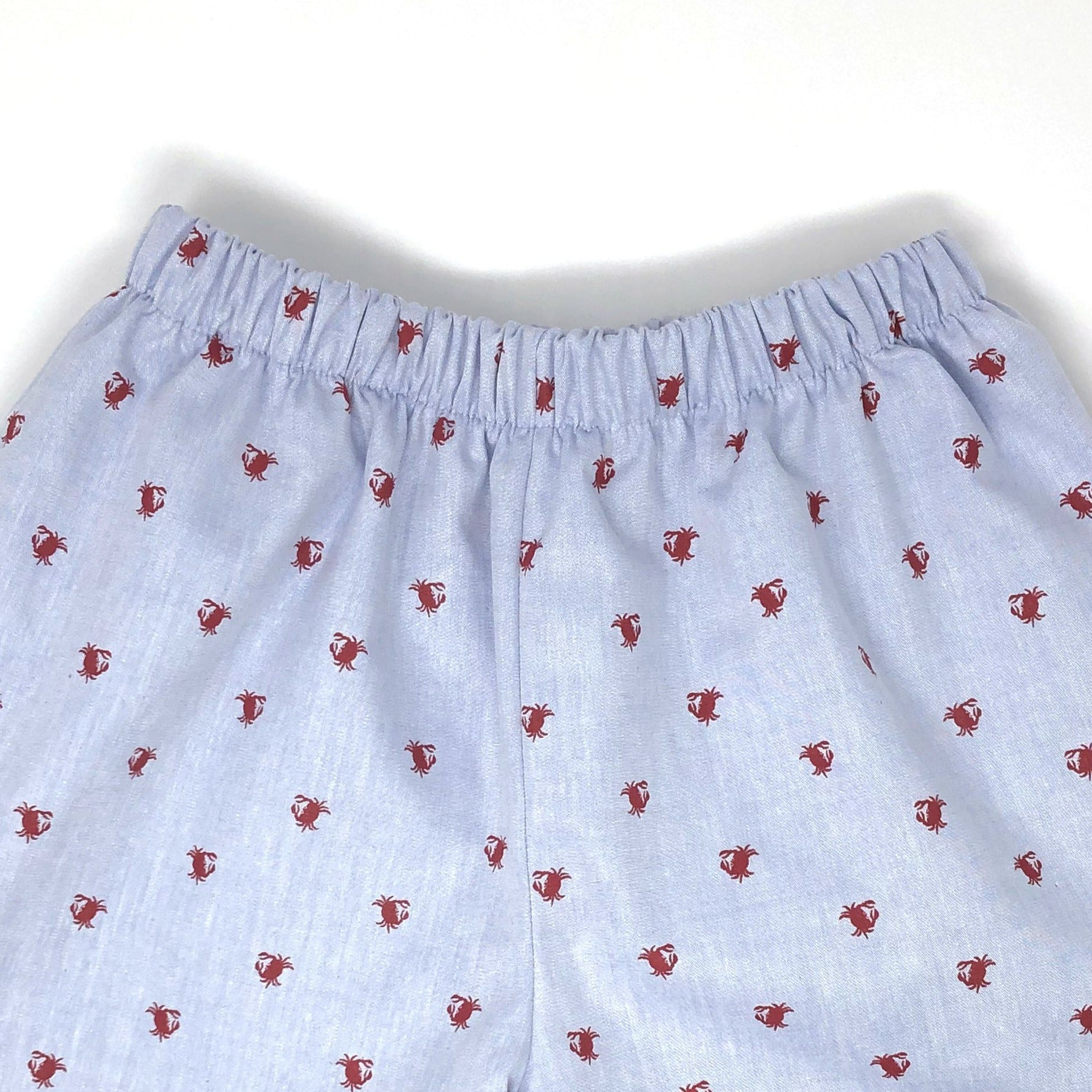 Chambray Crab Emilia Scallop Short