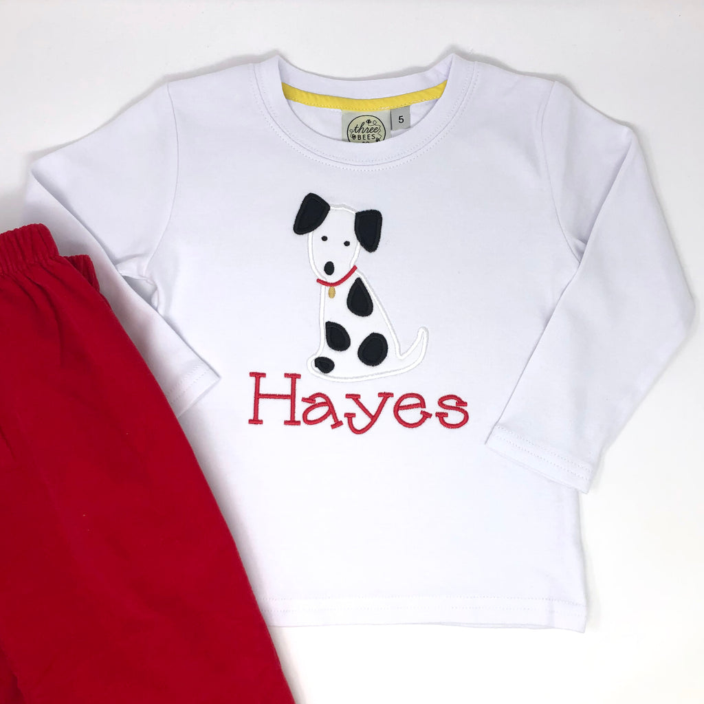 Dalmatian Applique Boys T-Shirt