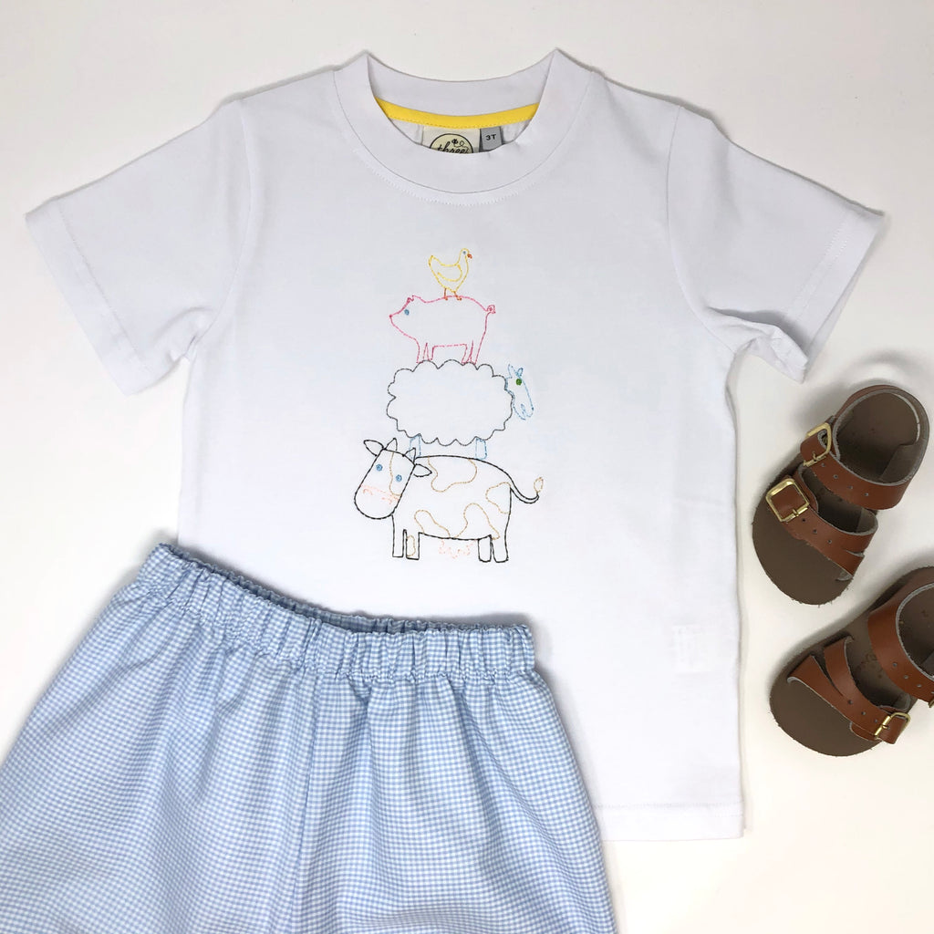Farm Stack Boys Embroidery T-Shirt