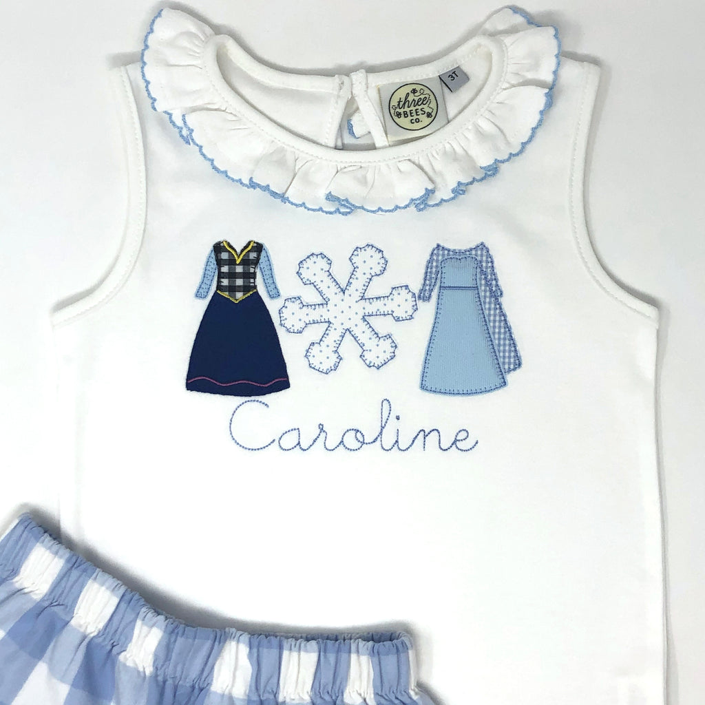 Princess Sisters Applique Girls Top