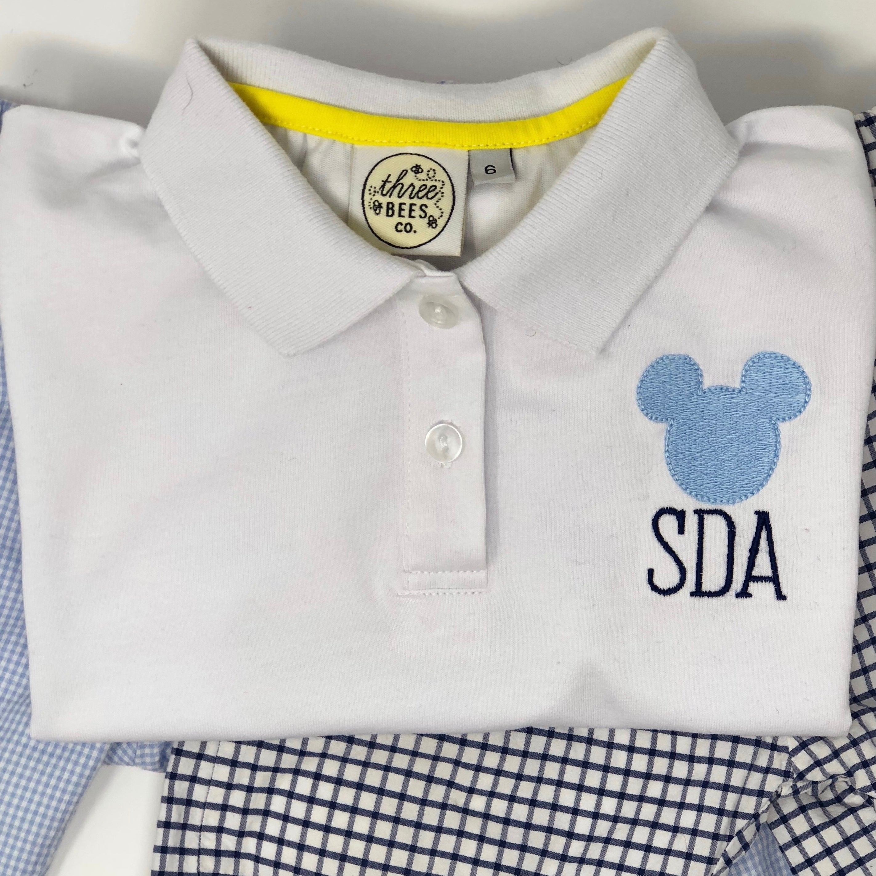 Classic Mouse Monogram Collared Shirt