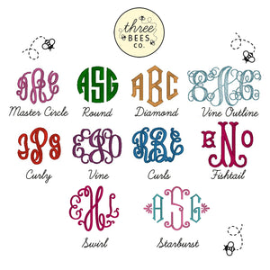 Monogram Wreath Applique Top