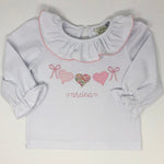 Heart Bunting Girls Applique Top