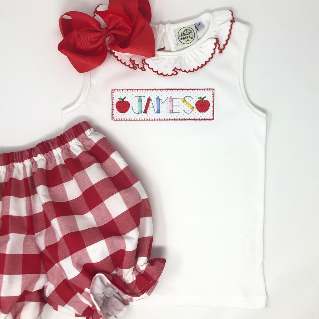 Personalized Patch Girls Top