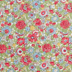 Liberty of London Fabrics Classic Tana Lawn Amelie Green/Red