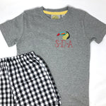 Mini Embroidery Design on Left Chest Boys T-Shirt