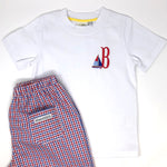 Personalized Mini Embroidery Design Boys T-Shirt