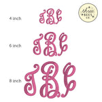 Monogrammed Girls Embroidered Top