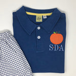 Pumpkin Applique Collared Shirt