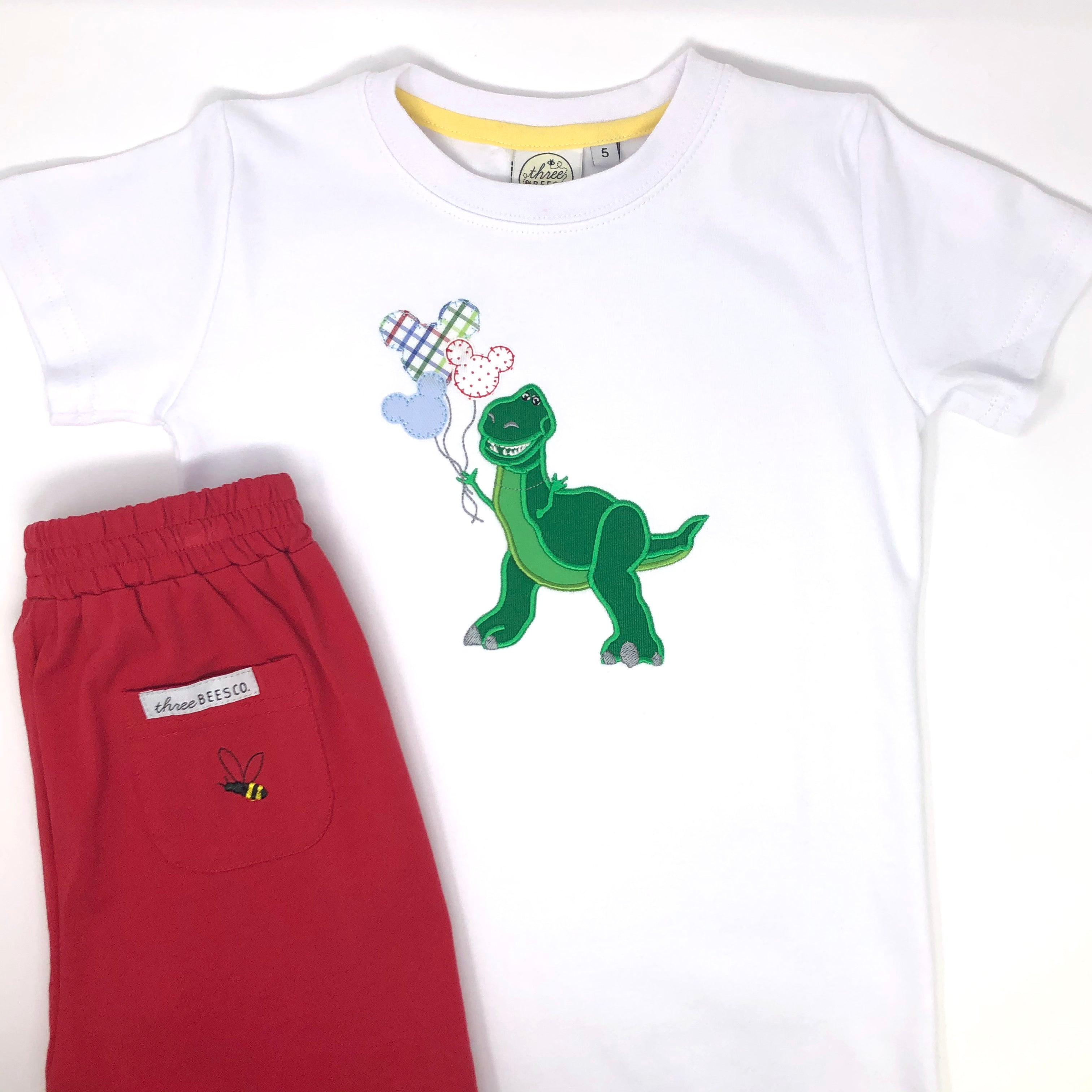 Rex with Balloons Applique Boys T-shirt
