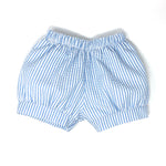 Seersucker Stripe Landon Fabric Banded Short (Unisex)