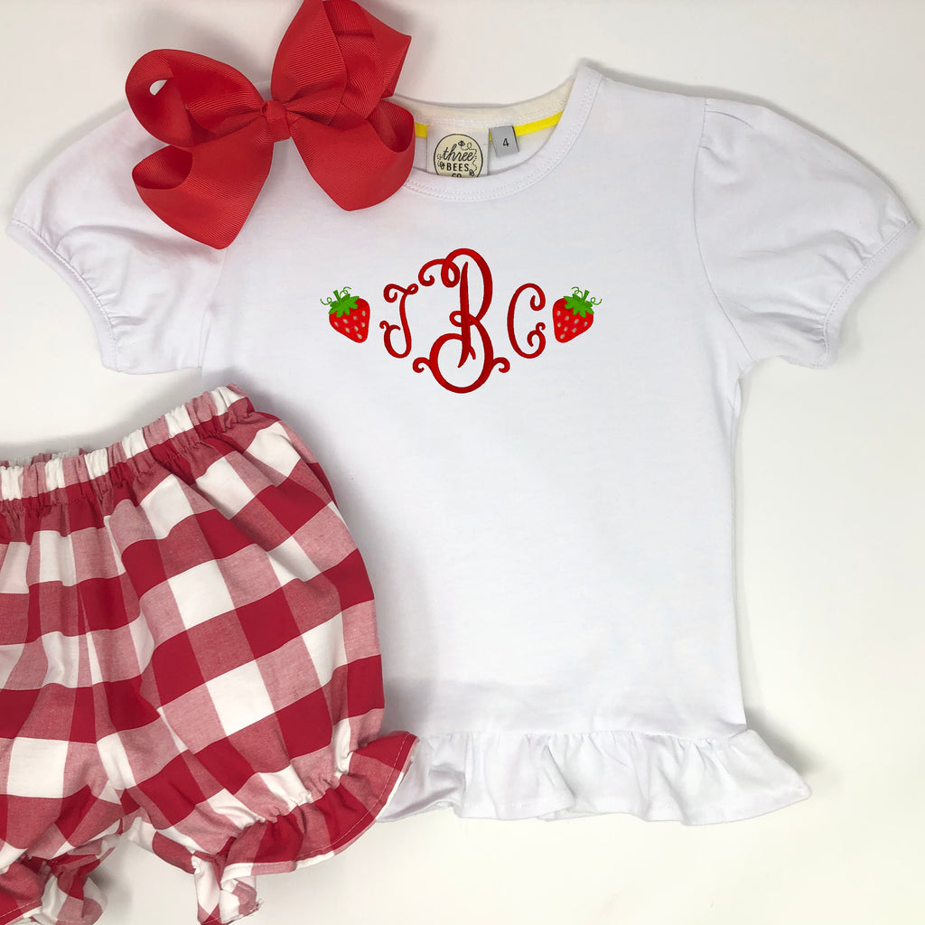 Personalized Strawberry Top
