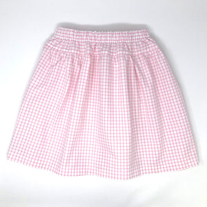 Pima Windowpane Claire Skirt
