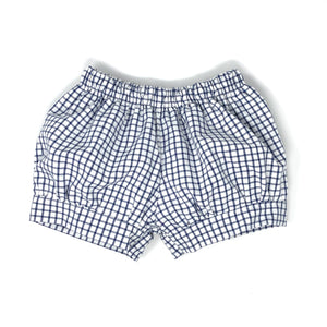 Pima Windowpane Landon Fabric Banded Short (Unisex)