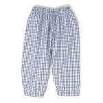 Pima Windowpane Landon Fabric Banded Pant (Unisex)