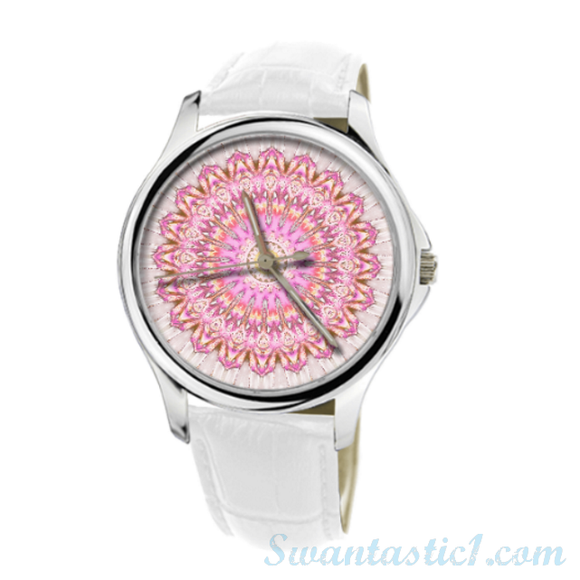 Bohemian Lady>30 Meters Waterproof Quartz Fashion Watch With White Genuine Leather  - SWANTASTIC1