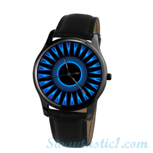 Vicious Neon>30 Meters Waterproof Quartz Leisure Watch With Black Genuine Leather  - SWANTASTIC1