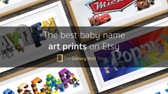 10 best baby name art prints on Etsy